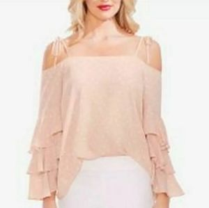 NWT VINCE CAMUTO Top Blush Polka Dots Blouse